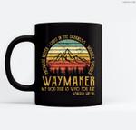 Waymaker Miracle Worker Promise Keeper Christian Ceramic Coffee Black Mugs
