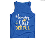 Womens Mommy of Mr Onederful 1st Birthday First One-Derful Matching Men Tank Top
