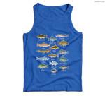 Types Of Freshwater Fish Species Fishing Men Tank Top