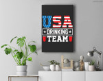 USA Drinking Team Funny Drinking Beer Lover Gift Premium Wall Art Canvas Decor