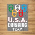 USA Drinking Team Fleece Blanket