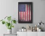 USA Flag 4th July American Red White Blue Star Stripes 4 Day Premium Wall Art Canvas Decor