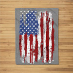 USA Flag American Flag United States of America 4th of July Fleece Blanket