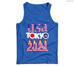 USA Tokyo Japan 2021 America Flag Men Tank Top