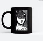 Uzumaki Scar Spiral Girl Ceramic Coffee Black Mugs