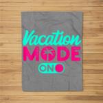 Vacation Mode Summer Vacation Fleece Blanket