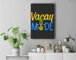 Vacay Mode Pineapple Funny Family Vacation Beach Gift Premium Wall Art Canvas Decor