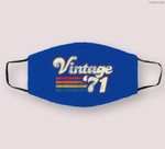 Vintage 1971 50th Birthday Cloth Face Mask