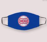 Vintage Chicago Baseball Stitches Cloth Face Mask