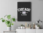 Vintage Chicago Illinois Est. 1833 Gift Premium Wall Art Canvas Decor