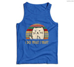 Vintage I Do What I Want Cat Lovers Men Tank Top