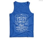 Vintage Made In 1971 Retro Classic 50th Birthday Decorations Men Tank Top