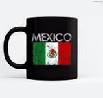 Vintage Mexico Mexican Flag Pride Gift Ceramic Coffee Black Mugs