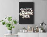Vintage My Last First Day Senior 2022 Back To School Premium Wall Art Canvas Decor