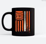 Vintage San Francisco Baseball Flag  Patriotic Baseball Ceramic Coffee Black Mugs