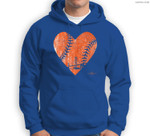 Vintage San Francisco Baseball Heart Sweatshirt & Hoodie