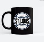 Vintage St. Louis Baseball Stitches Ceramic Coffee Black Mugs