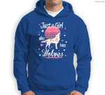 Wolf . Just A Girl Who Loves Wolves Sweatshirt & Hoodie