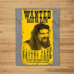 WWE Cactus Jack Wanted Graphic Fleece Blanket