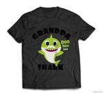 Mens Grandpa Shark Gift for Men - Shark Baby Cute Matching Family Baseball T-shirt