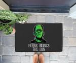 Frank Brings The Fun Funny Frankenstein Halloween Doorrmat