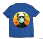 Frankenstein Monster Blowing Bubbles - Funny Halloween T-shirt
