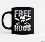 Free Hugs Jason Friday 13th Halloween Gift Ceramic Coffee Black Mugs