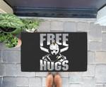 Free Hugs Jason Friday 13th Halloween Gift Doorrmat