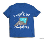 Funny Cats and Computers Halloween Kitty for Pet Lovers T-shirt