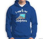 Funny Cats and Computers Halloween Kitty for Pet Lovers Sweatshirt & Hoodie