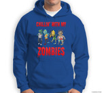 Funny Chillin With My Zombies Halloween Gift for Boys Sweatshirt & Hoodie