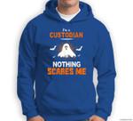 Funny Custodian Halloween School or Workplace Gift Sweatshirt & Hoodie