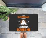 Funny Custodian Halloween School or Workplace Gift Doorrmat