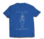 Funny Dead Serious Halloween Skeleton T-shirt