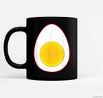 Funny Deviled Egg Halloween Last Minute Costume Ceramic Coffee Black Mugs