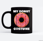 Funny Donut Halloween Costume Sprinkle Ceramic Coffee Black Mugs