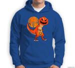 Funny Halloween Dinosaur Pumpkin Head Costume Gift For Boys Sweatshirt & Hoodie