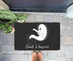 Funny Halloween Ghost Whisperer Design Doorrmat