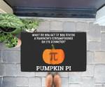 Funny Halloween Math Pun  Pumpkin Pi Doorrmat