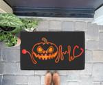 Funny Halloween Nurse Doctor Stethoscope Pumpkin Doorrmat
