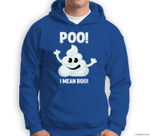 Funny Halloween Poo! I Mean Boo! Poop Emoticon Sweatshirt & Hoodie