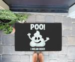 Funny Halloween Poo! I Mean Boo! Poop Emoticon Doorrmat
