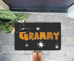 Funny Halloween Witches Hat Boo Scary Grammy Grandma Doorrmat