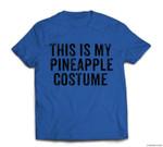 Funny Lazy Halloween Pineapple Costume T-shirt