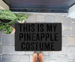 Funny Lazy Halloween Pineapple Costume Doorrmat