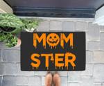 Funny Momster Pumpkin mom halloween for Moms Doorrmat