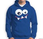 Funny Monster Halloween , Monster Face Sweatshirt & Hoodie