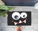 Funny Monster Halloween , Monster Face Doorrmat