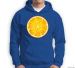 Funny Orange Sliced Fruit Lazy Easy Halloween Costume Sweatshirt & Hoodie