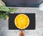 Funny Orange Sliced Fruit Lazy Easy Halloween Costume Doorrmat